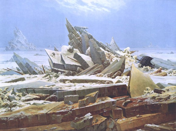 Caspar David Friedrich ijs eis meer opstuwing 580x433 Caspar David Friedrich Schwarze Romantik und Melancholie
